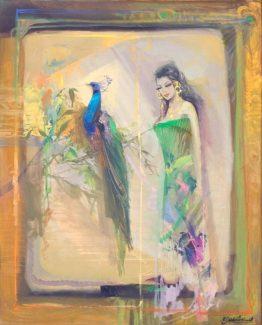Красив блян - абстрактна картина на художника Божидар Хаджистоянов