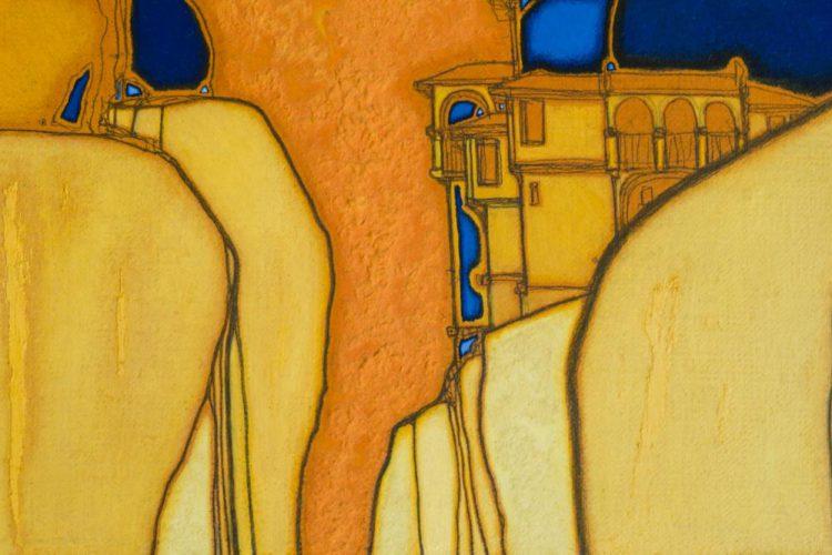 абстрактен пейзаж от Велико Търново