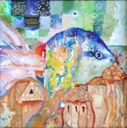 Дъщерята на Посейдон - абстрактна картина
