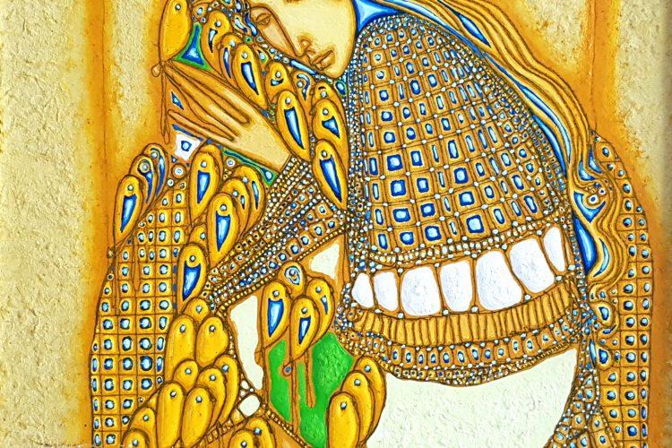 Игра-абстрактна картина на художника Аександър Димитров в Арт Галерия Европа в Софияв
