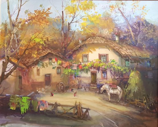 Катинската воденица-картинапейзаж на художника Божидар Хаджистоянов
