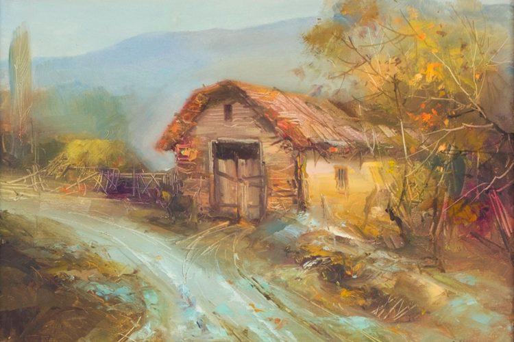 В очакване на зимата - каритни с маслени бои пейзажи