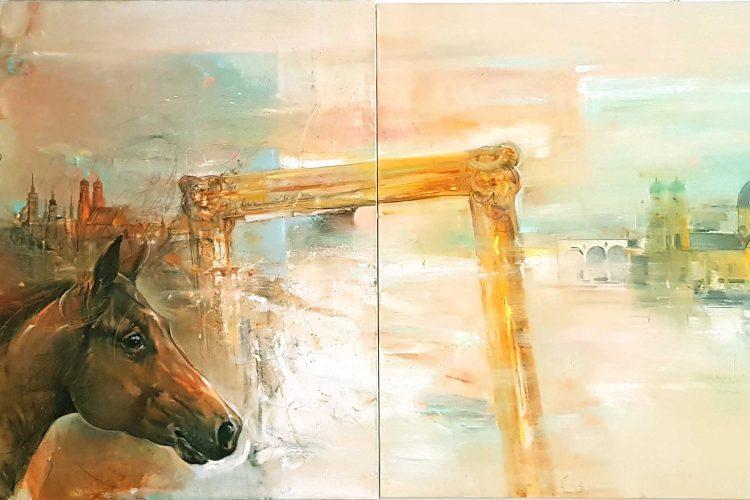 Устрем - абстрактна картина на художника Васил Василев в Арт Галерия Европа