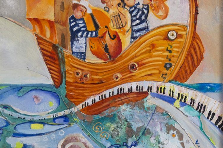 Весела мелодия - абстрактна картина-морска тема