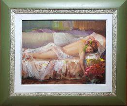 Цветна почивка - картина с маслени бои