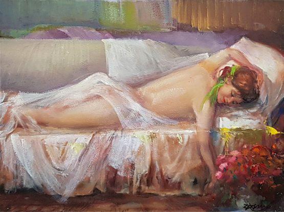 Цветна почивка - картина живопис