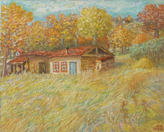 Есен - картина пейзаж с маслени бои
