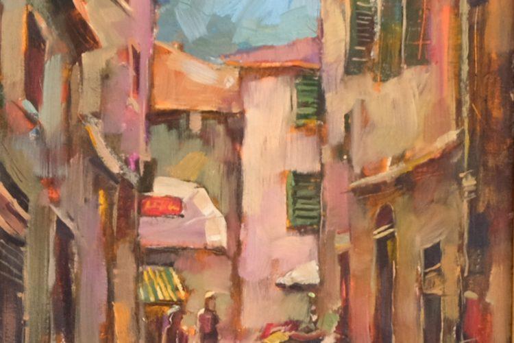 Градски пейзаж - картина пейзаж