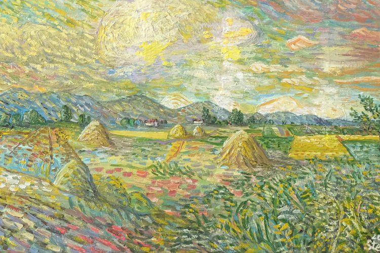 Лято - картина пейзаж на художника Стоян Хаджистоянов