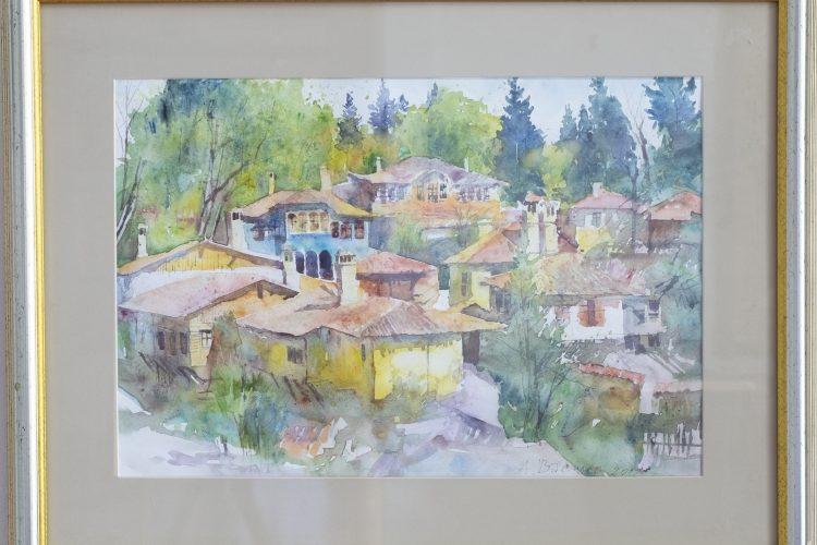 Пейзаж от Копривщица - акварел
