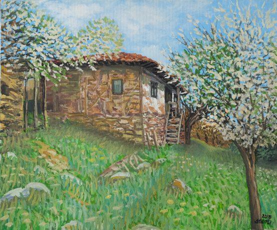 Пролет в с.Лешко - пролететна картина пейзаж