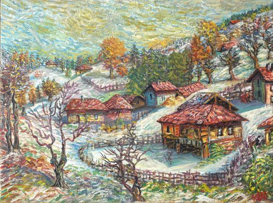 Зима в Габрово - картина пейзаж