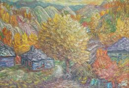 Есена в планната- картина пейзаж