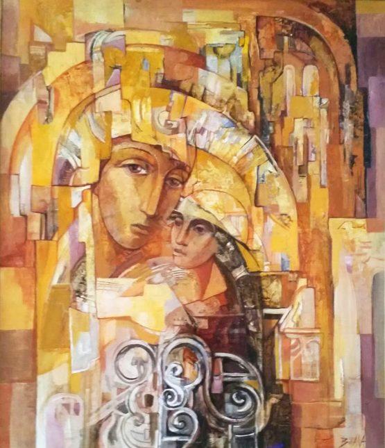 Олтар-абстрактна картина с маслени бои