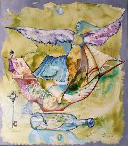 Ангел - картина с маслени бои, платно