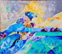 Слънчево безвремие -картина, маслени бои, платно.