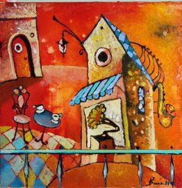Noon - abstract painting | абстрактна картина на Арт Галерия Европа