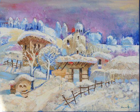 Зима - картина пейзаж, Арт Галерия Европа
