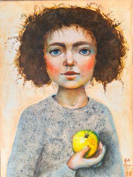 Златната ябълка, картина живопис, извеестни български художници, цена